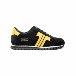 Tisza Shoes - Martfű - black-yellow padded