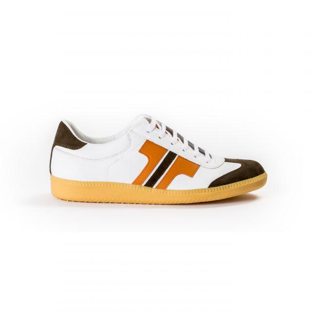 Tisza cipő - Compakt - Fehér-narancs-barna
