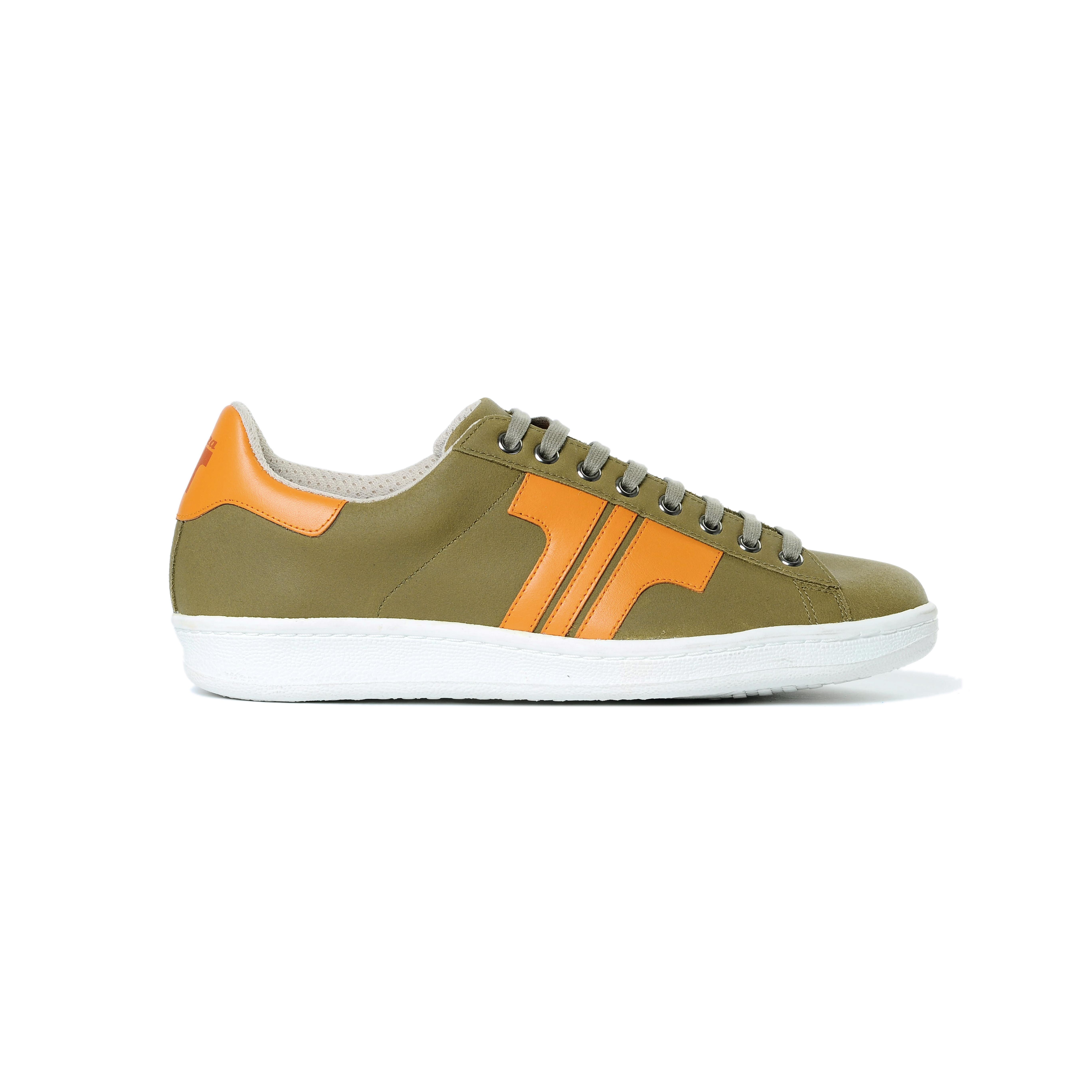 Tisza cipő - Tradíció'80 - Khaki-narancs
