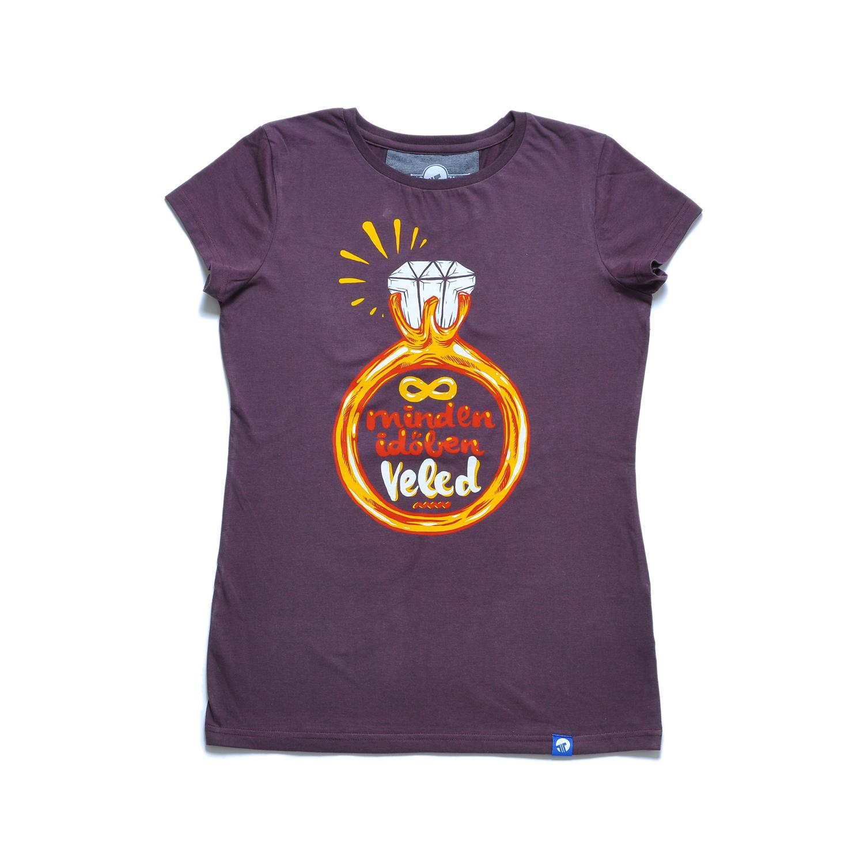 Tisza cipő - Póló - Női póló bordó