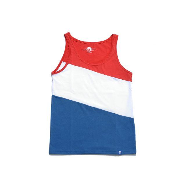 Tisza cipő - Atléta - Piros-fehér-kék