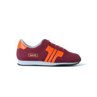 Tisza cipő - Martfű - Bordó-narancs