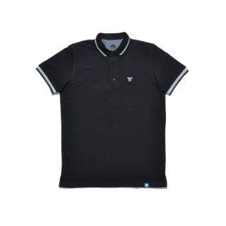 Tisza cipő - Galléros póló - Szürke-fekete