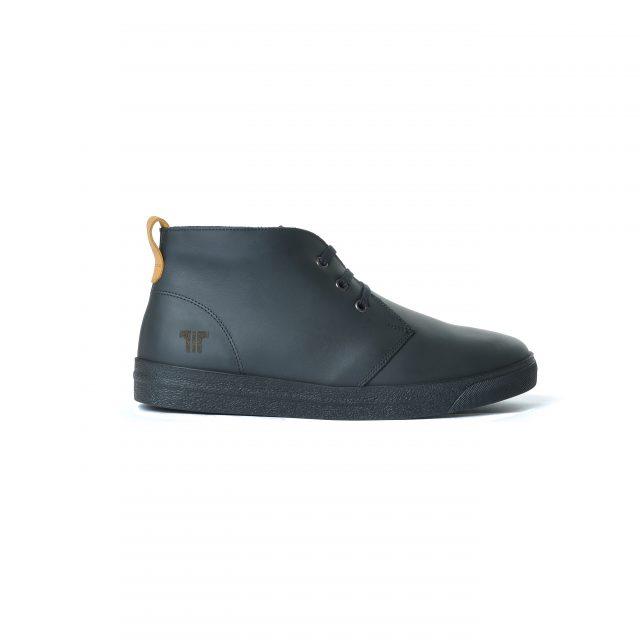Tisza cipő - Alfa - Fekete-dohány bélelt