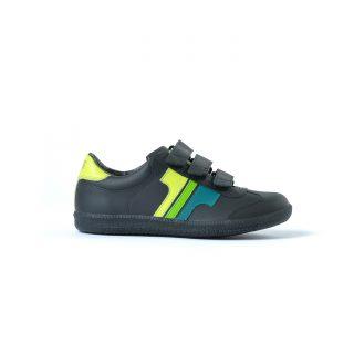 Tisza cipő - Compakt delux - Fekete-3zöld