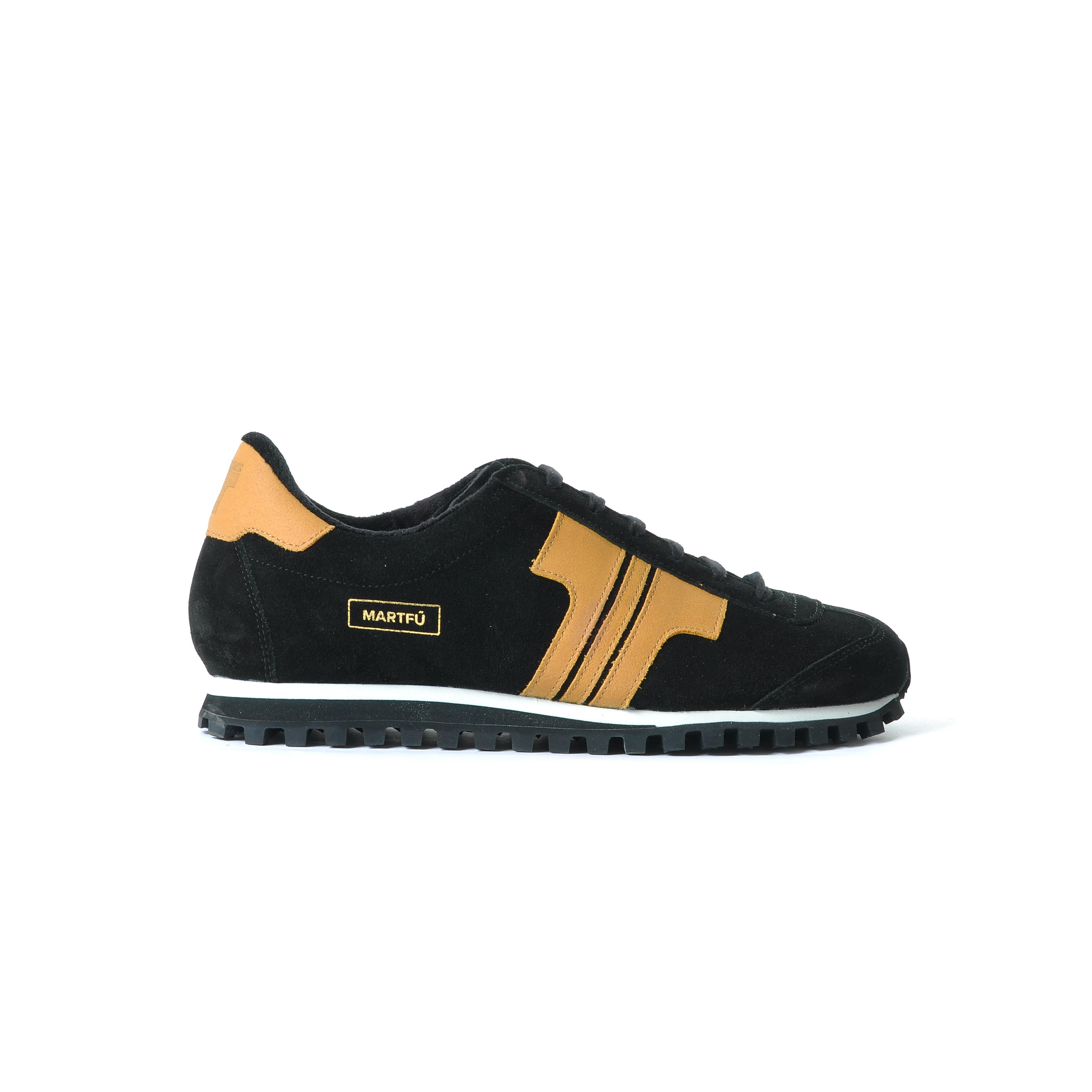 Tisza cipő - Martfű - Fekete-dohány