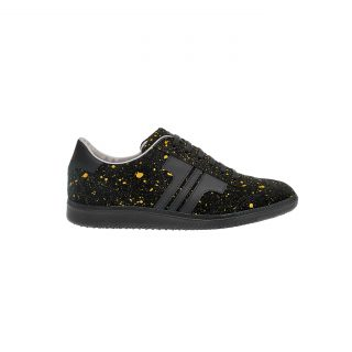 Tisza cipő - Comfort - Fekete-splash sárga
