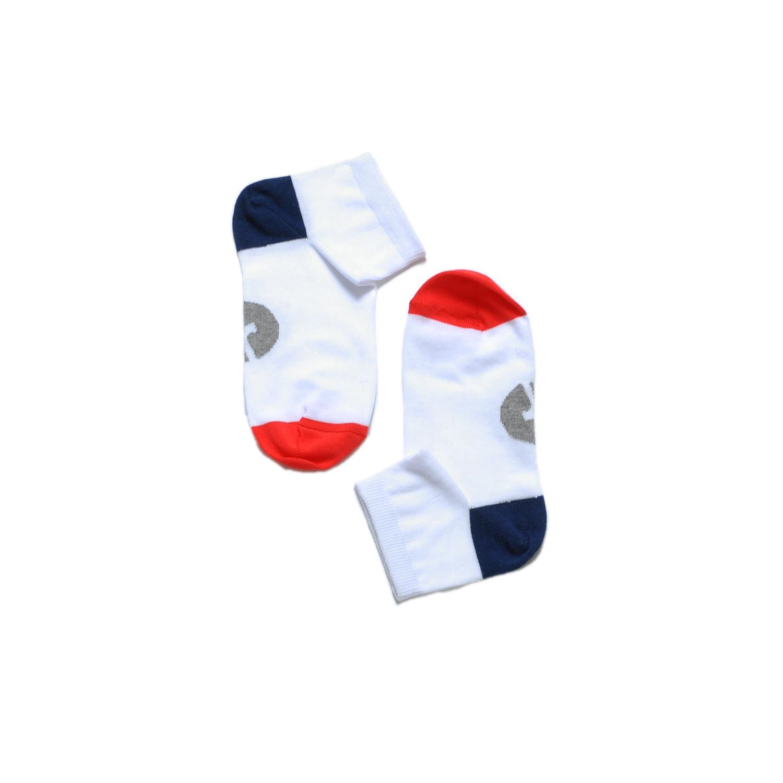 Tisza cipő - Zokni - Fehér-kék-piros