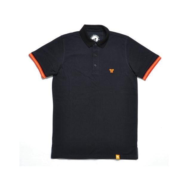 Tisza cipő - Galléros póló - Fekete-narancs