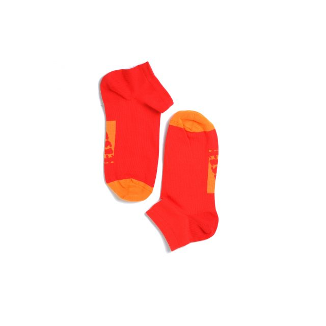 Tisza cipő - Zokni - Piros-narancs