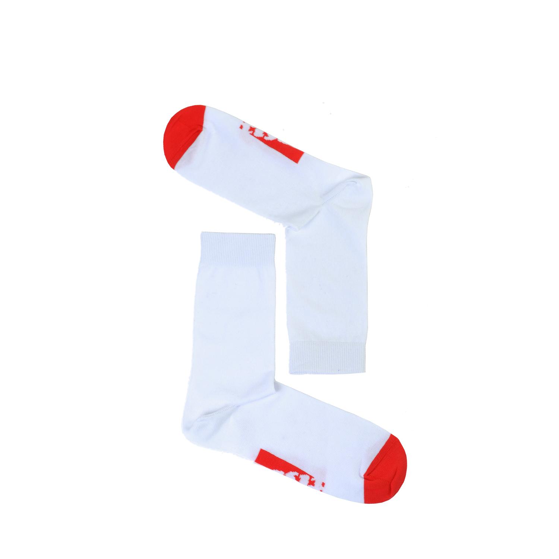Tisza cipő - Zokni - Fehér-piros