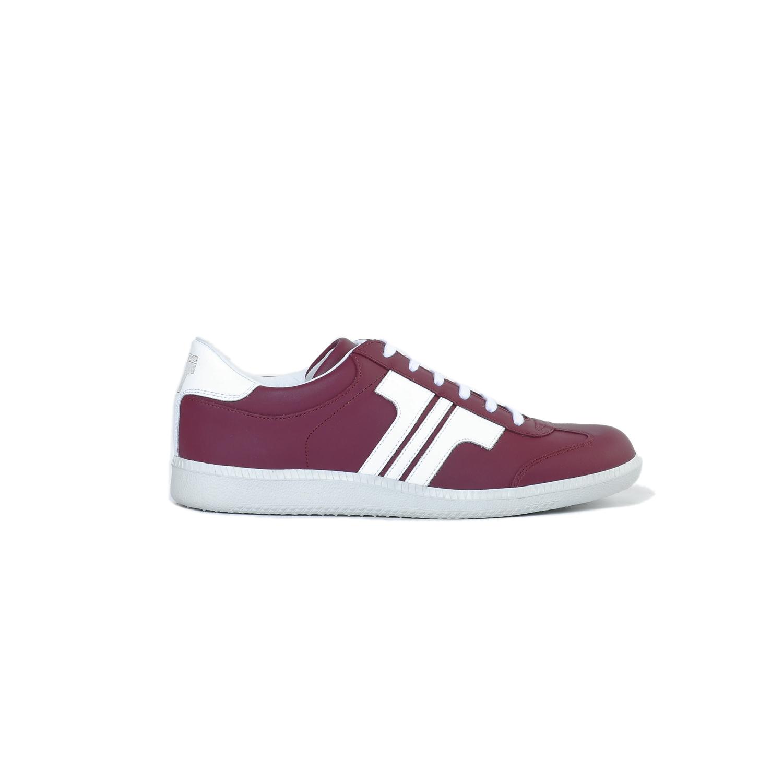 Tisza cipő - Compakt - Bordó-fehér