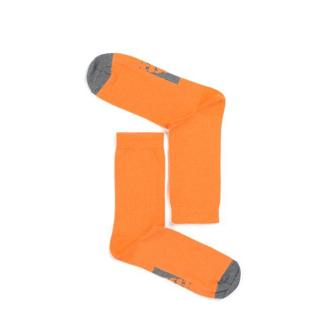 Tisza cipő - Zokni - Narancs-szürke