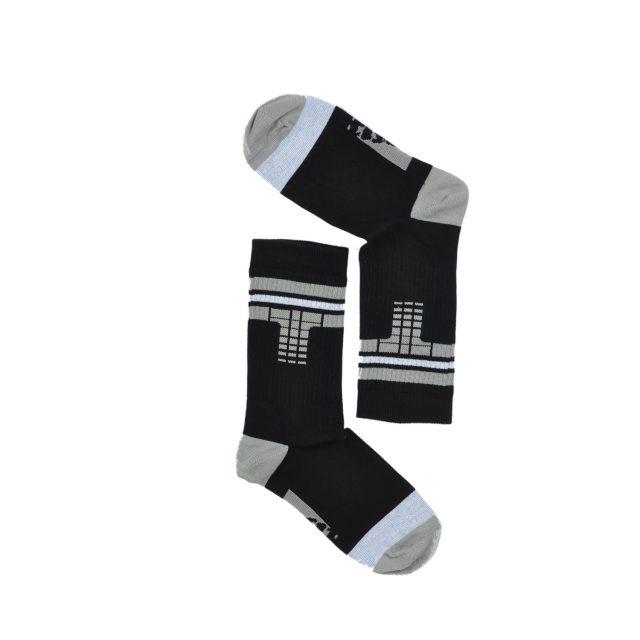 Tisza cipő - Zokni - Derby Fekete-szürke-fehér