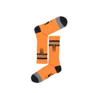 Tisza cipő - Zokni - Derby Narancs