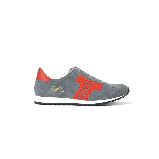 Tisza cipő - Martfű - Szürke-piros