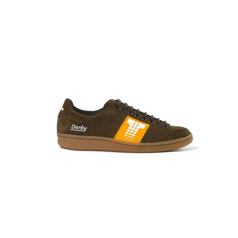 Tisza cipő - Derby - Barna-sárga