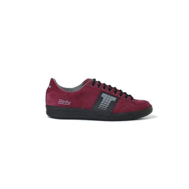 Tisza cipő - Derby - Bordó-fekete