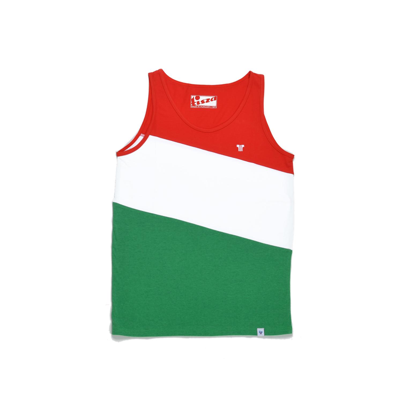Tisza cipő - Atléta - Piros-fehér-zöld