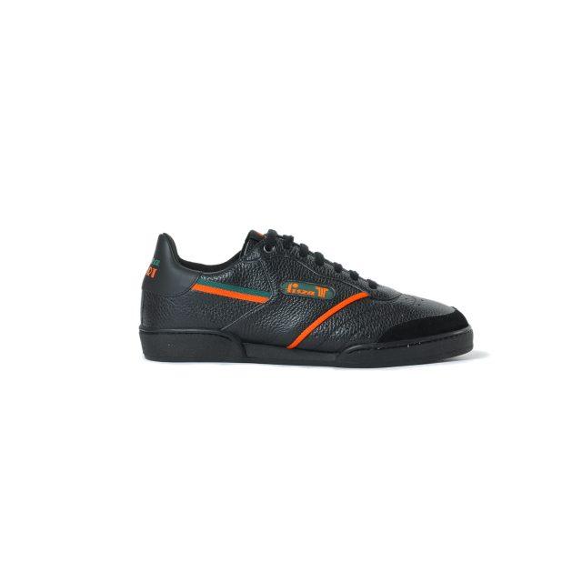Tisza cipő - Sport - Fekete-zöld-narancs