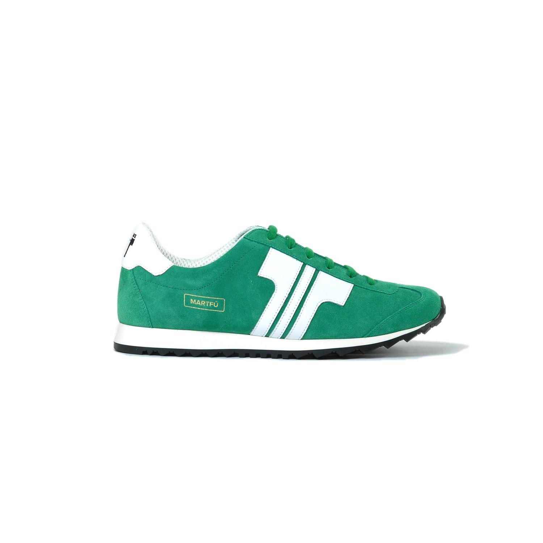 Tisza cipő - Martfű - Zöld-fehér