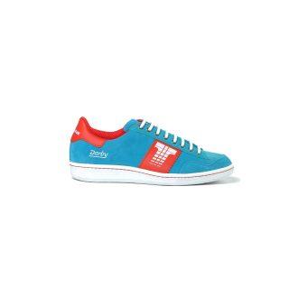 Tisza cipő - Derby - Babakék-piros