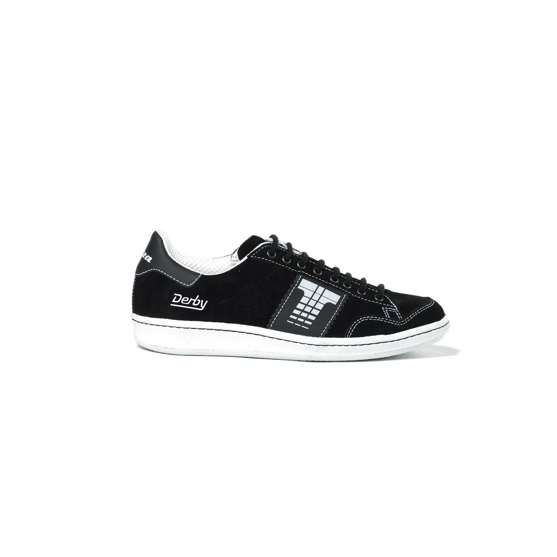 Tisza cipő - Derby - Fekete-fehér