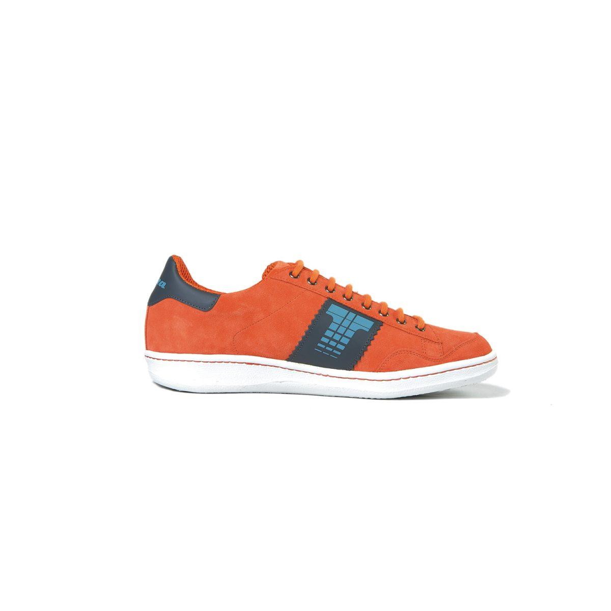 Tisza cipő - Derby - Narancs-szürke