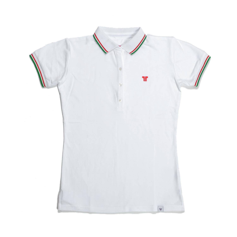 Tisza cipő - Galléros póló - Fehér-olimpia