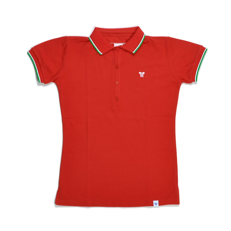 Tisza cipő - Galléros póló - Piros-olimpia
