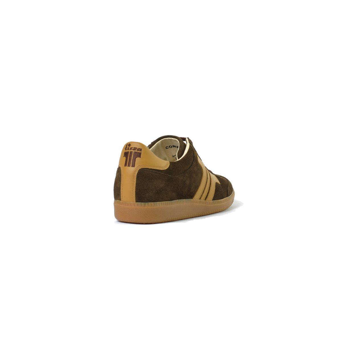 Tisza cipő - Compakt - Barna-bézs velúr
