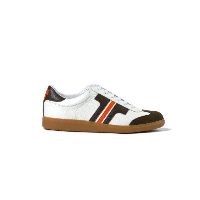 Tisza cipő - Compakt - Fehér-barna-narancs