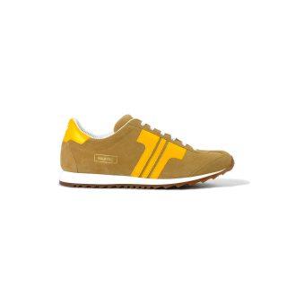 Tisza cipő - Martfű - Dohány-sárga