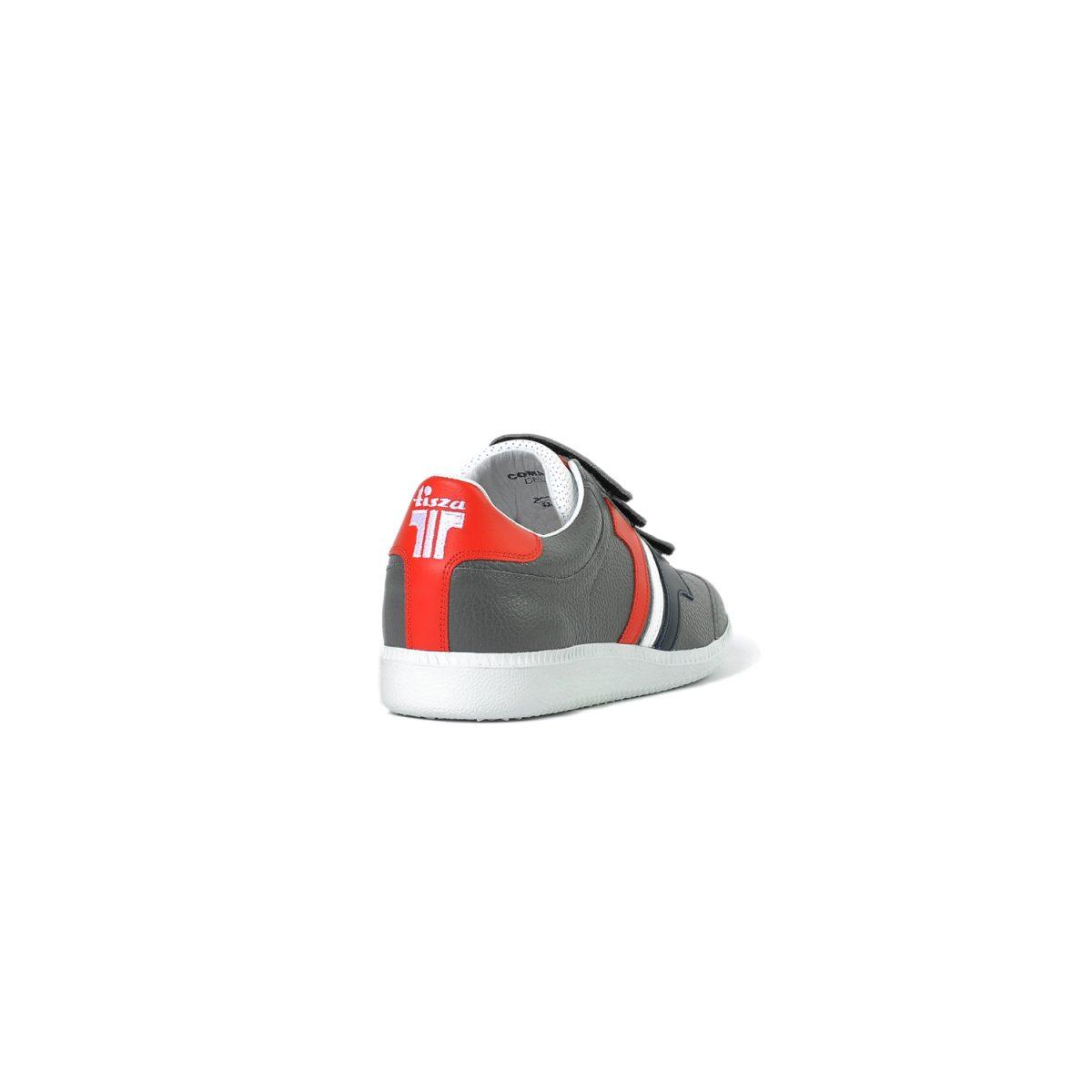 Tisza cipő - Delux - Szürke-kék-fehér-piros