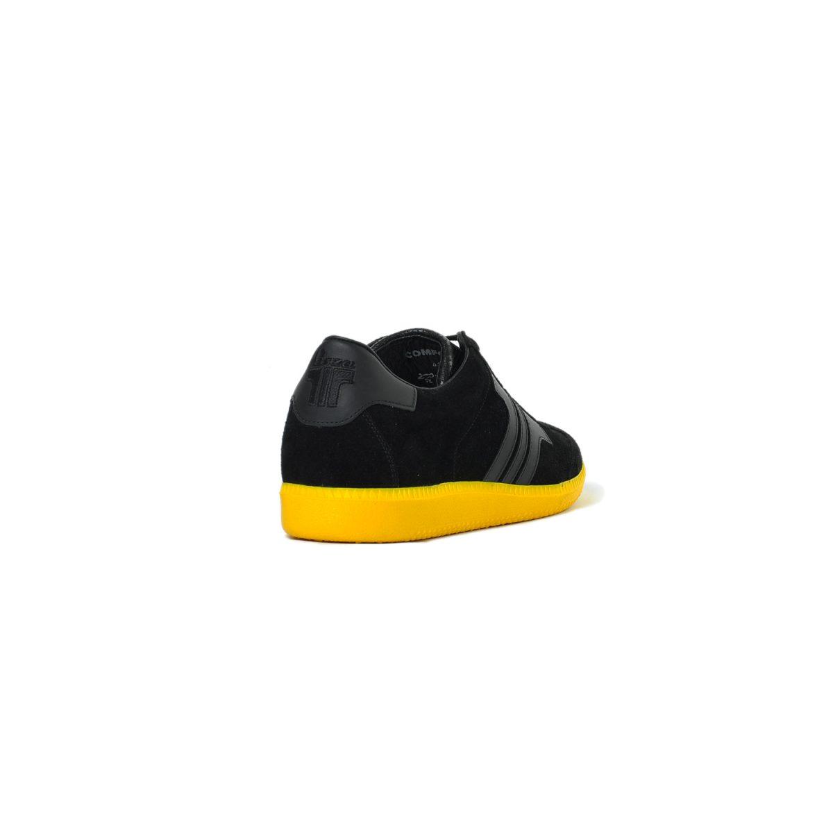 Tisza cipő - Comfort - Fekete-sárga