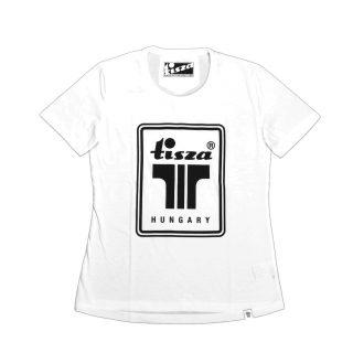 Tisza cipő - Női póló - Fehér T logó