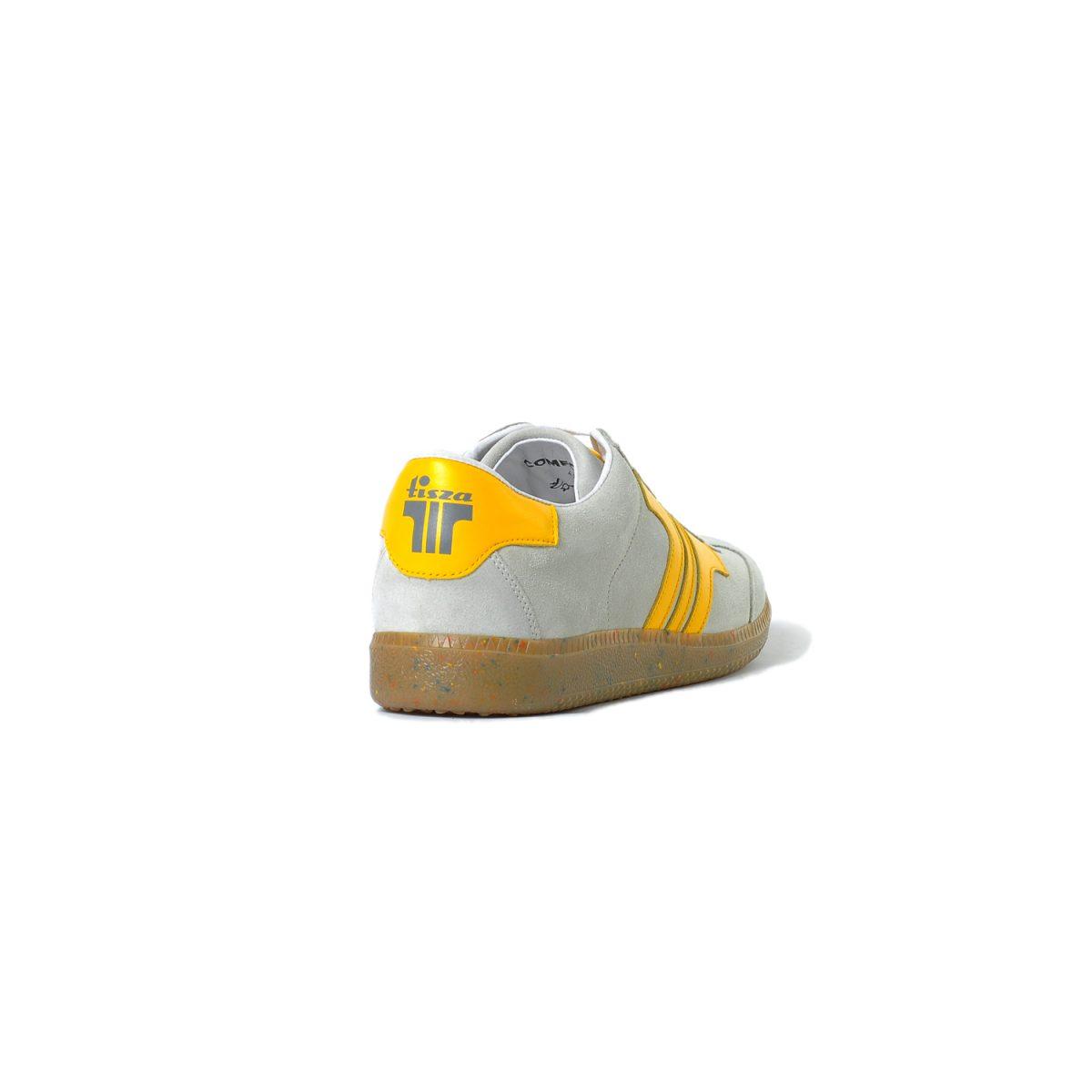 Tisza cipő - Comfort - Törtfehér-sárga
