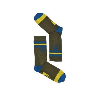 Tisza cipő - Zokni - Derby Keki-royal-sárga