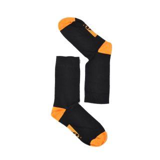 Tisza cipő - Zokni - Fekete-narancs