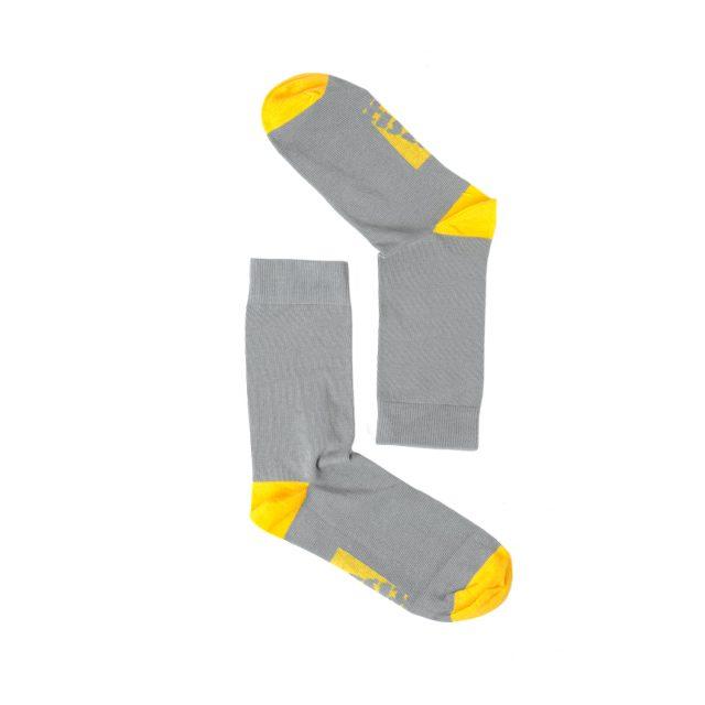 Tisza cipő - Zokni - Szürke-sárga