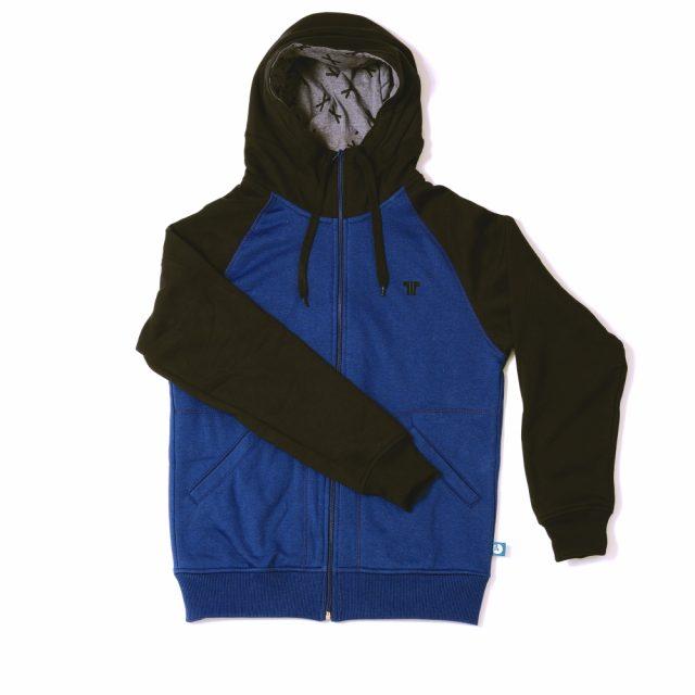 Tisza Shoes - Pulóver - blue-black hoodie