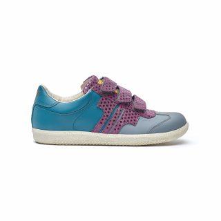Tisza Shoes - Compakt Delux - grey-purple-bluecoral